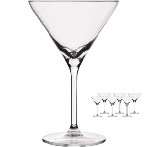 KIELISZKI DO MARTINI DIAMOND 260 ML KOMPLET 6 SZT.